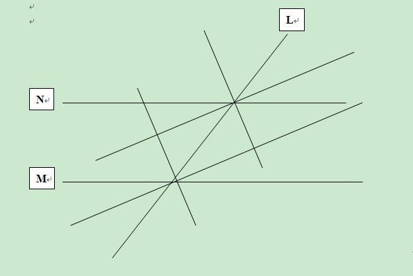 两条平行线被第三条直线所截,其同位角的平分线可以组成?图片