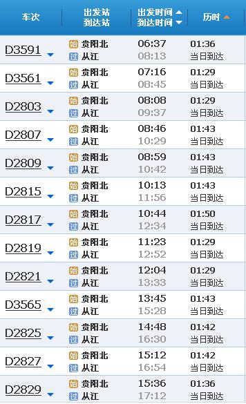 贵阳北站有几个站台