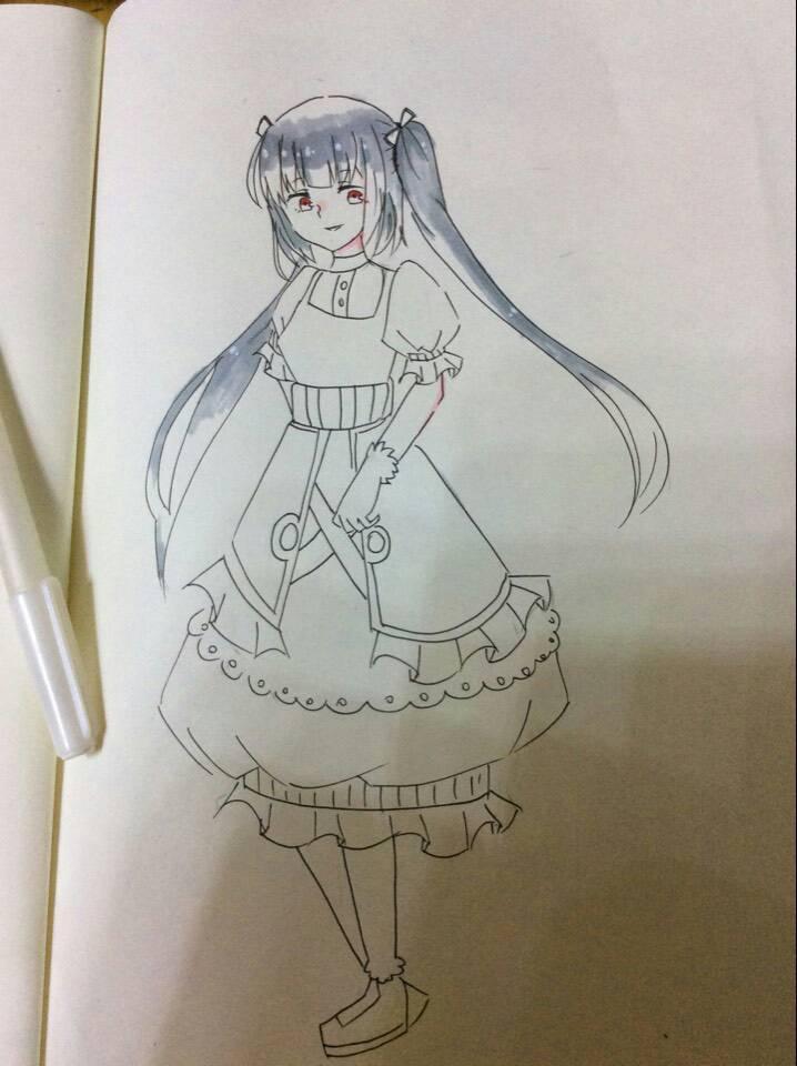 这里十三岁的初中生,刚刚给美术生姐姐大人看了我的画图片