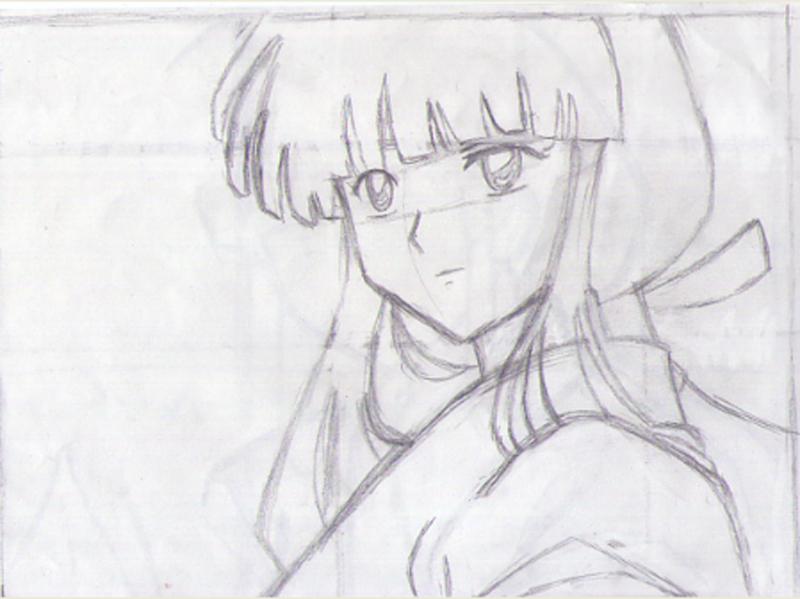 初学画画 画了一个动漫少女