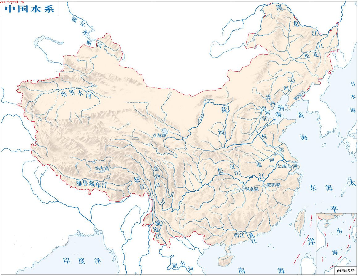 我国河流分布图_中国地图河流分布图 中国地图山脉 分布 图