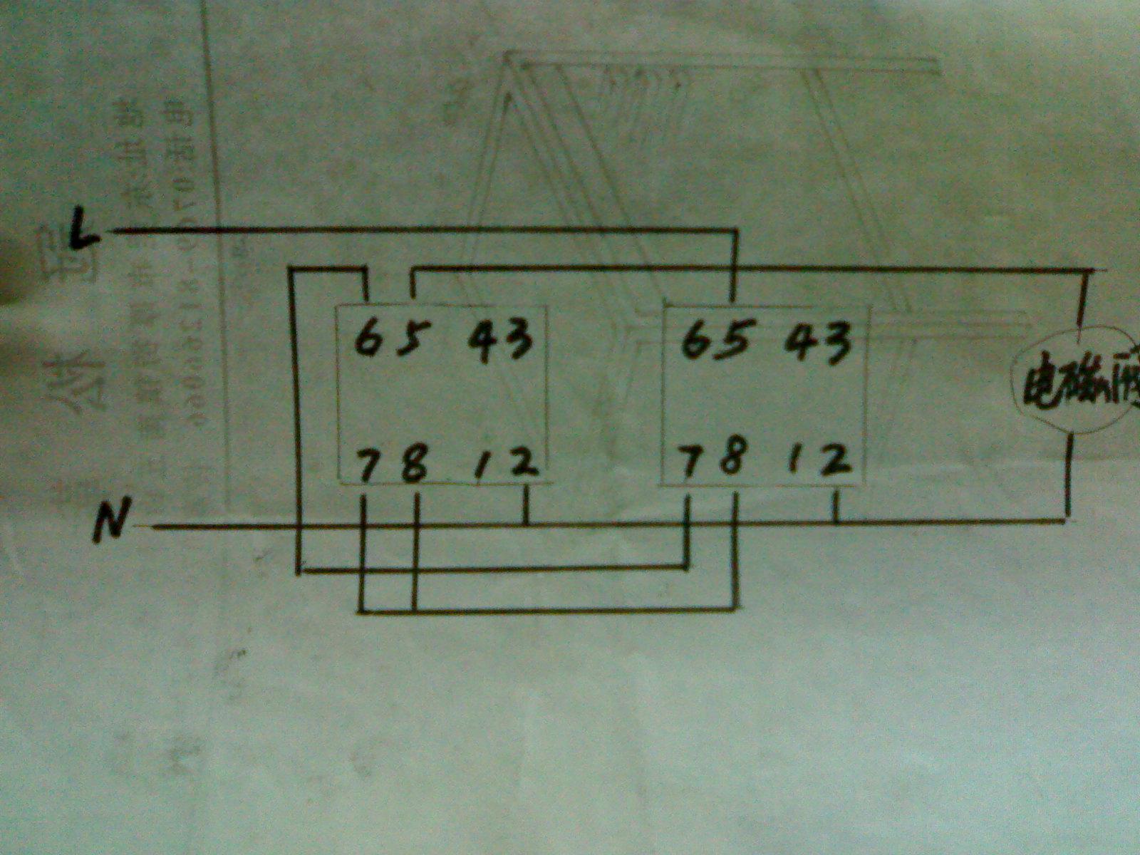 ah3-3时间继电器及电池气阀控制一个气缸来回自动循环工作应如何接线?图片