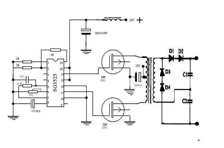 逆变器的简单工作原理图片