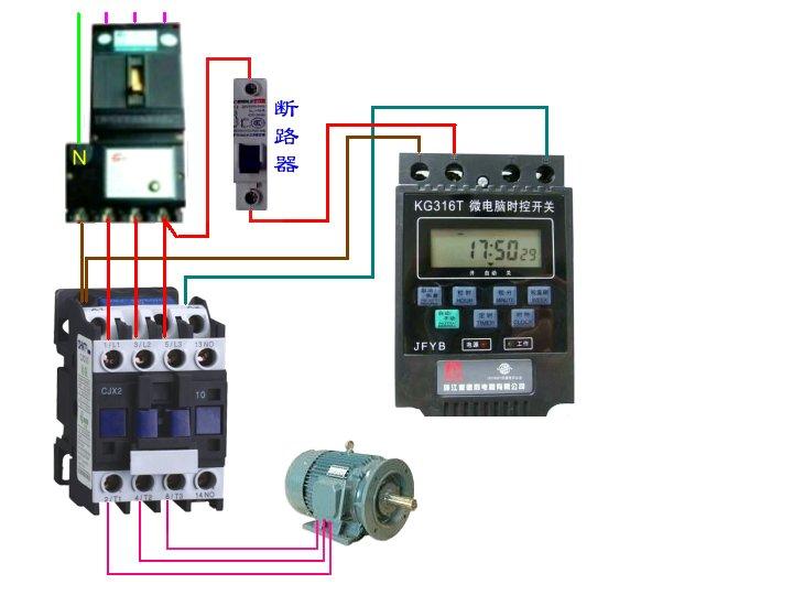 CJX2 25交流接触器接线图