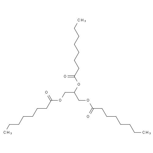 甘油酯;英文名称:1,2,3-tri-n-octanoylglycerol,cas:538-23-8 分子式图片