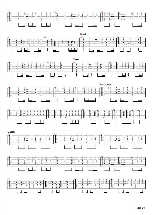 乐队的森林吉他谱 要有右手扫弦的节奏!图片