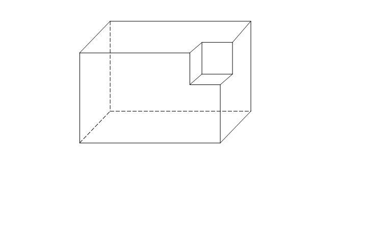 从一个正方体的一个顶点挖去一个小正方体,剩下部分的表面积与原来图片