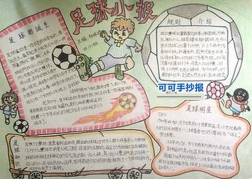 办一张足球的手抄报收获