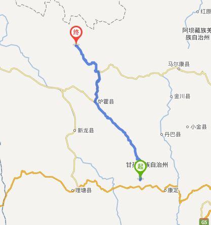 新都桥到甘孜多少公里