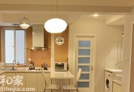 求一体式客厅厨房装修效果图图片