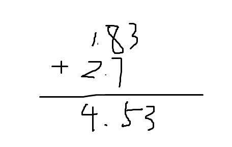 1.83+2.7的简便算法