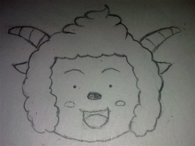笔画顺序 羊简笔画 羊