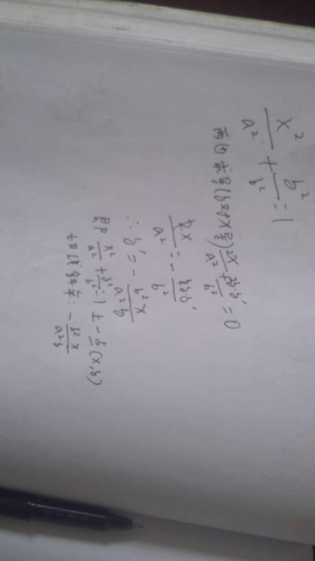 椭圆中弦斜率公式