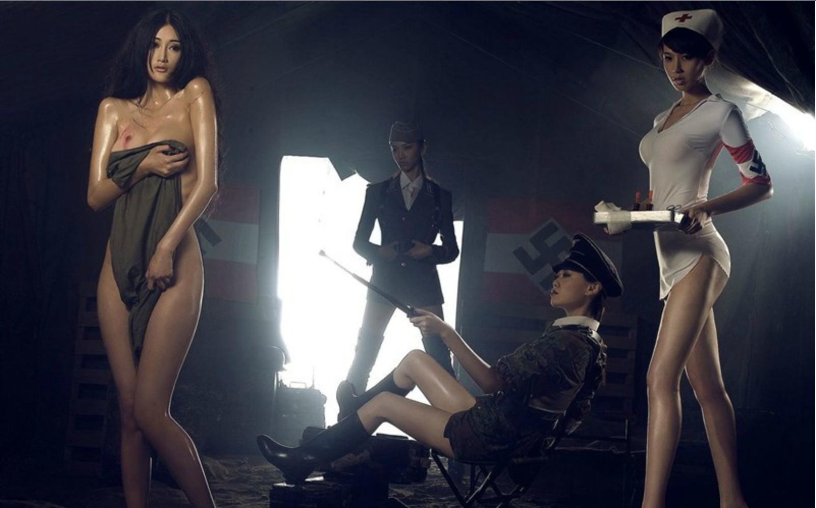 《性感美女演绎另类二战》中的模特分别是谁啊?