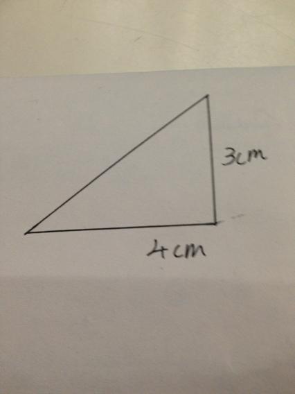 画一个底是2厘米,高是4厘米的三角形.图片