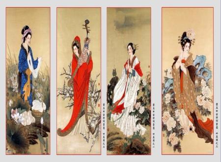 在哪个网站可以搜索到高清喷绘用的四大美女图片