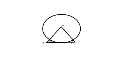 △abc为等腰直角三角形,∠a=90,ab=ac=根号2,圆a与bc相切,求图中阴影图片