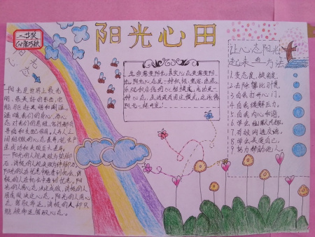 三年级阳光心语手抄报图片