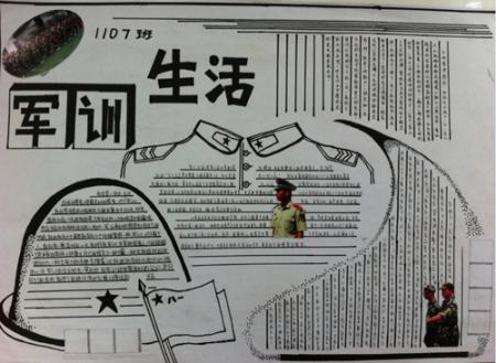 以军训为主题的手抄报大标题和小标题用什么颜色的笔好看,写的内容用