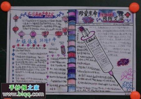 预防艾滋病手抄报要图画和字
