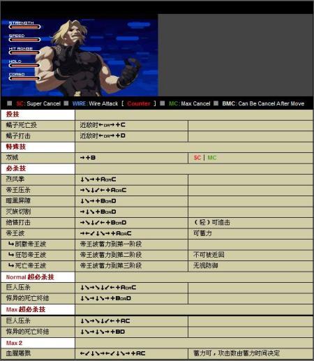 拳皇2002风云再起卢卡尔出招表图片-拳皇2002出招表图片