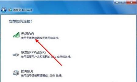win7系统里,在连接网络的时候,没有无线网的图标图片