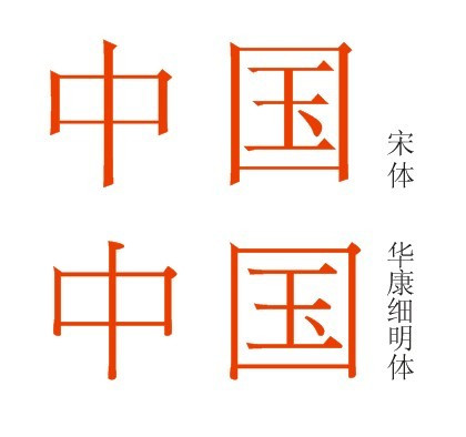 么字体比细宋体笔画更细,但还是宋体的型