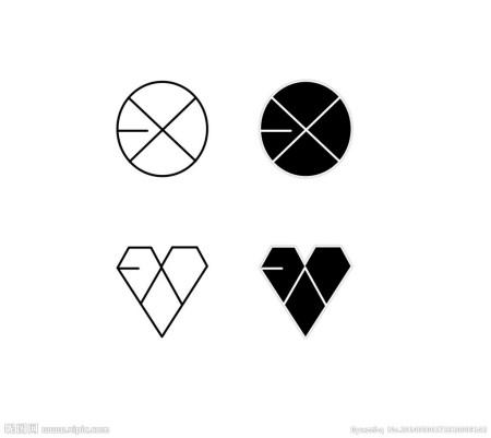 exo的标志有一个五边形的笔画怎么画图片