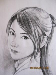 素描人物简单头像图片