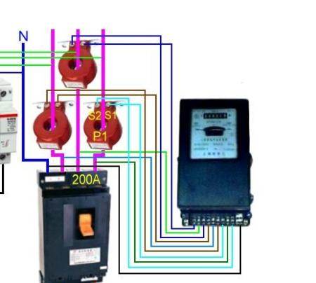 电流互感器和电度表的接法图片