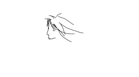 求一张:古代男子长发飘飘的侧脸封面图片