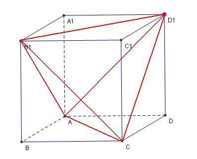 这个三棱锥就是正方体6条面对角线组成的三棱锥图片