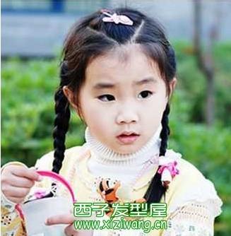 儿童发型绑扎方法图图片