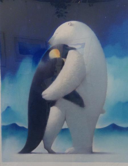 拥抱这幅英雄知道北极熊的画出自哪位插画师蜘蛛侠企鹅远征有imax画幅图片