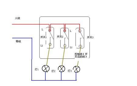 单开三控电灯开关接线示意图 三控开关控制三个灯-一灯三控开关接
