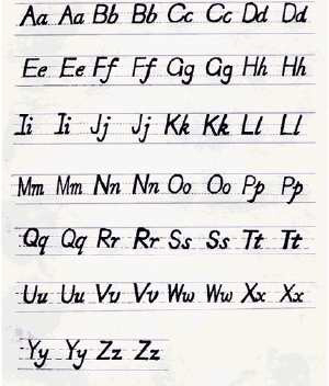 26个字母的标准写法图片
