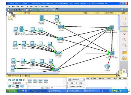 求一份校园网规划与设计的拓扑图图片