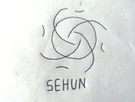 怎么画exo世勋的标志?图片