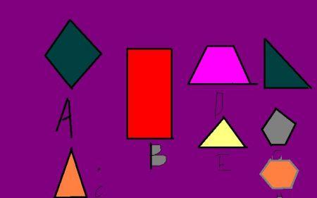 一个正方体物体,被切一刀后,它的切面不可能是()(写出图片