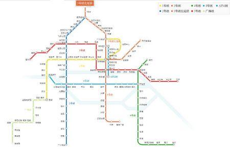 求广州地铁最新线路图图片