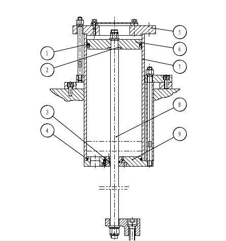 冲床平衡气缸漏气故障分析图片