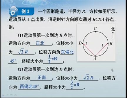 为什么路程是二分之三πR而不是四分之三πR
