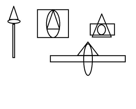 以三角形 圆形 方形进行图形创意各20个图片