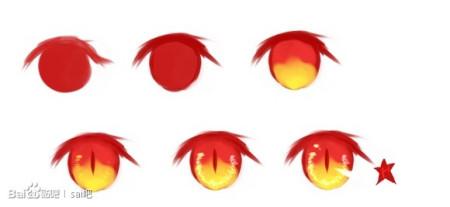 动漫少女眼睛画法