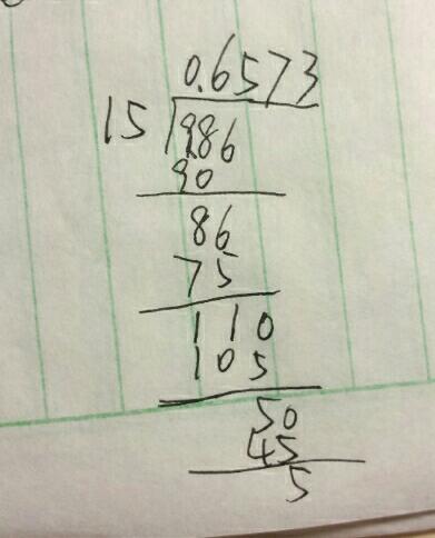 列竖式计算题0.986除1