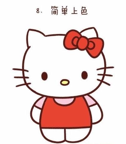 怎么简笔画hello kitty图片