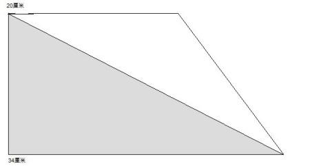 一个直角梯形,上底是12分米,下底是28分米,如果从这个梯形中剪去一个图片