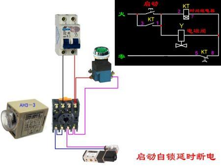 一个电磁阀来控制一个气缸图片