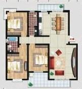 求120平方三室二厅一厨一卫房子装修效果图和预算
