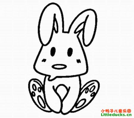 兔子 简笔画 ,要 图片 不要太复杂,像大耳朵图图电视.图片